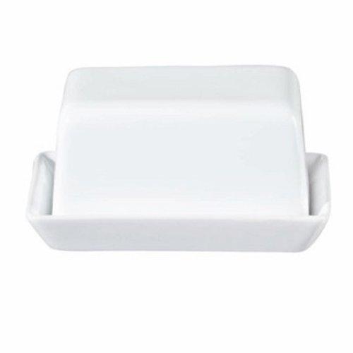 ASA Grande Butterdose, Keramik, weiß glänzend, 16.5x13.5x7 cm