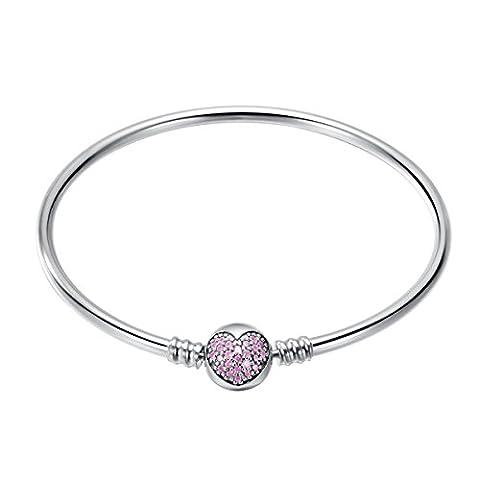 Bracelets femme argent 925 19CM (cardiaque régulier) CHANGEABLE