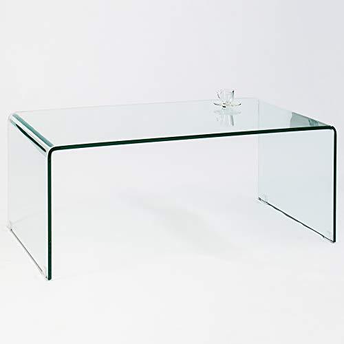 Invicta Interior Glas Couchtisch FANTOME 110 cm transparent Glastisch Beistelltisch Wohnzimmertisch -