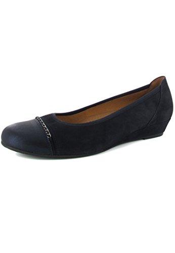 GABOR - Damen Keil-Pumps - Blau Schuhe in Übergrößen, Größe:44
