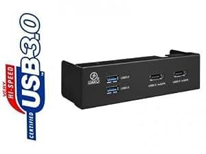 "Lian Li BZ-U07B Façade multifonction pour Boitier 5,25"" -USB 3.0/USB 2.0/eSATA Noir"