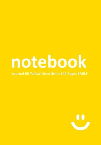 notebook-journal-b5-yellow-8mm-140-pages-smile-lined-paper-notebook-college-ruled-0315-wide-line-spa
