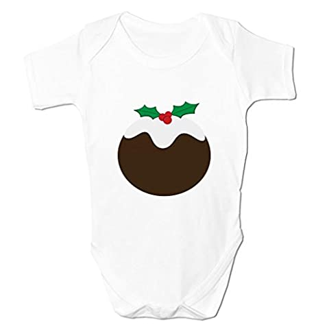 Funny Baby Grows Cute Baby Clothes for Baby Boy Baby Girl Bodysuit Vest Christmas Pudding Emoticon