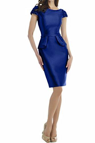 Missdressy - Robe - Dos ouvert - Femme Bleu royal