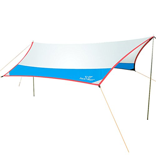 Bâches de protection Auvent Tente extérieure Simple Grand Loisirs auvent Plage Sortie Camping Tente pergola Protection Solaire abri Contre la Pluie (Color : Blanc, Size : 420 * 400cm)