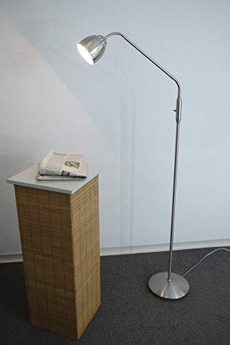 Stehleuchte Leseleuchte Tanja nickel Fassung E14 2x Flexeinsätze Standlampe