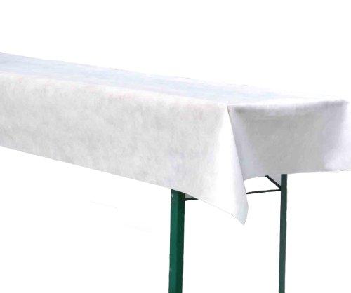 Bierzeltgarnitur Tischdecke aus stoffähnlichem Vlies, Öko-Tex 100, (Farbe & Breite nach Wahl), ideal für jede Party, Catering, Vereinsfeier, Hochzeit, Geburtstagsfeier