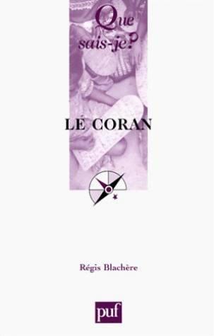Le Coran par Régis Blachère