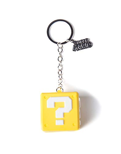 Nintendo - 3D Fragezeichen-Block - Schlüsselanhänger   100% Gummi   Offizielles ()