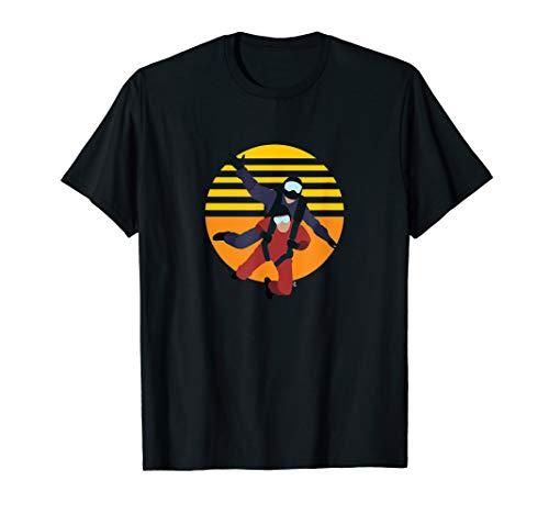 Fallschirm Tandem Skydive Luftsport Vintage Geschenk T-Shirt