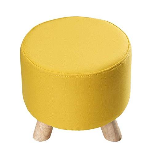 TTZ Kleiner Sitz Massivholz Sofa, dreibeiniger Hocker Waschbar Tragbare Schuhbank Einfache Mode Kleine Bank Wohnzimmer/Büro/Lounge (Color : D) -