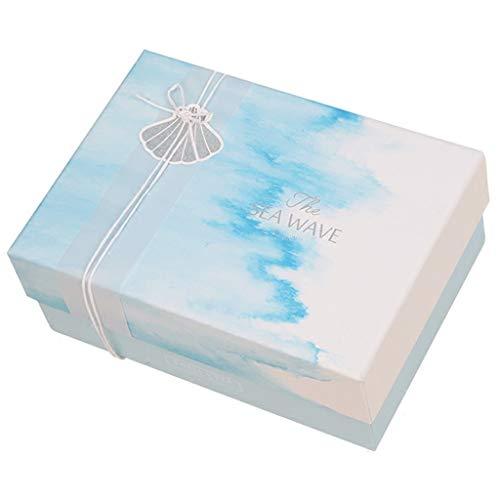 Marine-Art-rechteckige Geschenkbox-Parfüm-Schmuck-Kosmetik-Verpackung passend für Frauen (größe : L(25×20×10cm))