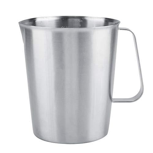 Milk Pitcher - 2000ml Large Edelstahl Messbecher Becher Milch Aufschäumen Pitcher Krug für Latte Coffee Art