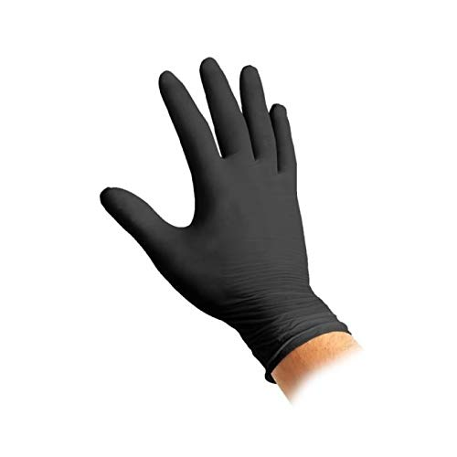 guanti lattice nero Guanti Monouso in Nitrile Neri - Confezione da 100 Guanti - Disponibili Misure S