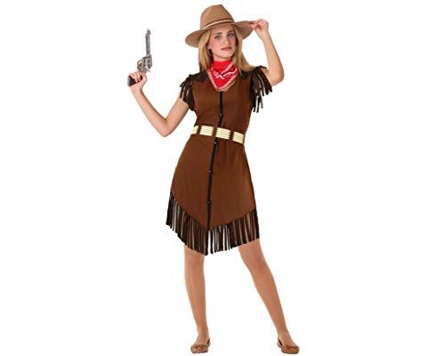 Atosa-61597 Atosa-61597-Disfraz Vaquera Mujer, Color marrón, ADOLESCENTE (61597