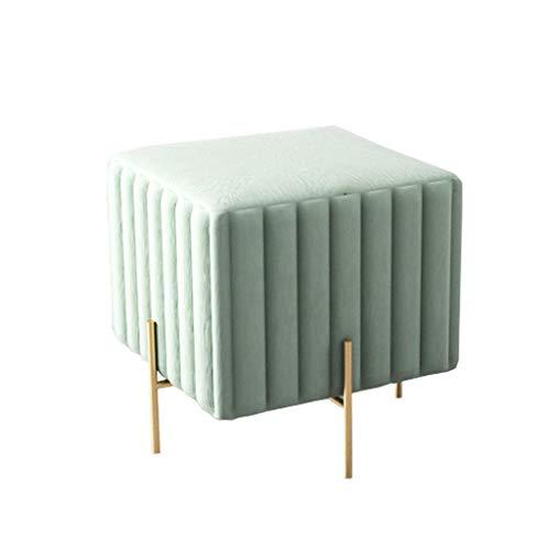 Moderne Hocker Ottoman Household Square Sofa Fußstützen | Gepolsterter Makeup Hocker | Wohnzimmerhocker Kinderbank, abnehmbare Metall 4-Beine, 2 Größen