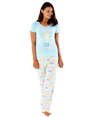 Selena Secrets - Ensemble de pyjama - Imprimé - Femme * bleu tropical