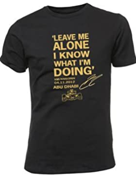 Camiseta con cita de Kimi Räikkönen «Leave Me Alone I Know What I'm Doing», Hombre, S, S