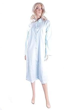 Marlon Ladies Blue Polar Fleece Robe Dressing Gown Size 12-14