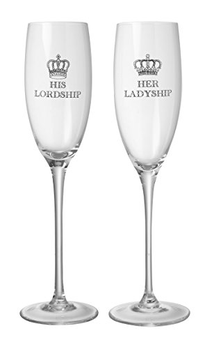 Majestic His Lordship & Her Ladyship Champagne Flute Glass Set