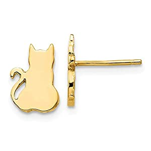 14ct JewelryWeb Ohrringe, Katzen-Design