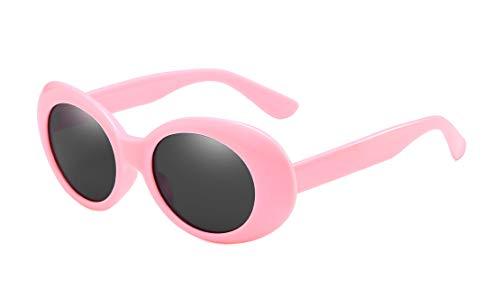BOZEVON Retro Gafas de sol Ovaladas - UV400 de Protección Anteojos pa