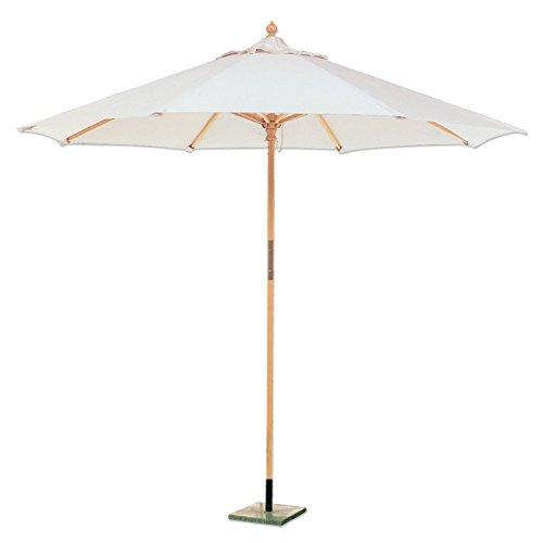 Sonnenschirm, sechskantig, aus Holz und Baumwolle für Garten und Strand, Durchmesser: 250 cm