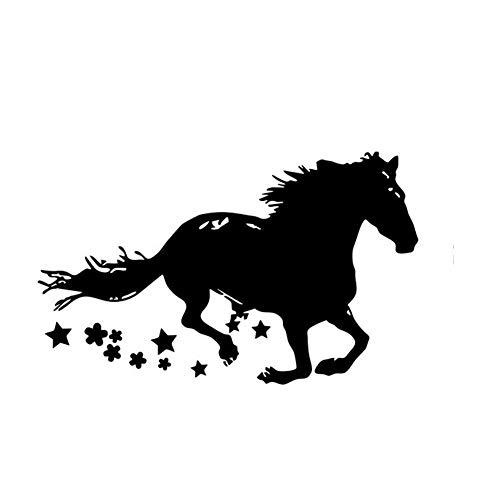 zqyjhkou Running Horse Wandtattoo Dekoration Pferd Zeichnung Silhouette Vinyl Wandaufkleber Abnehmbare Pferd Tier Tapete Ay1531 93x57 cm -