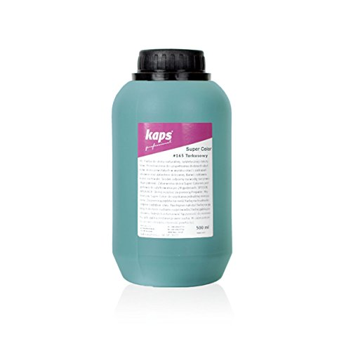 Kaps Super Color Lederfarbe für Naturleder, Synthetik und Textil, Lederfärber, 500 ml Color Türkis 165