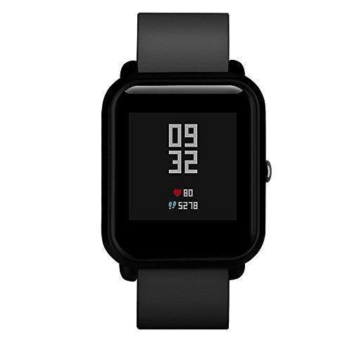 Vamoro Uhrenarmband, modisches PC-Gehäuse, Schutz für Xiaomi Huami Amazfit Bip Jugenduhr, Schnellverschlussriemen