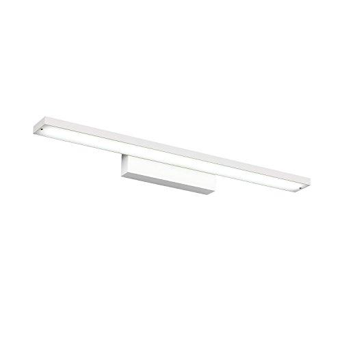 8W/12W/16W Espejo Baño lámpara de pared Lámpara de color blanco frío/Blanco Cálido Lámpara de baño 400 mm/600/800 mm Acero Inoxidable Resistente al agua elegante elegante color blanco