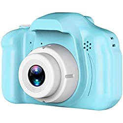 Sunnyflowk X2 Hd Appareil photo numérique pour enfants Cartoon Camera Portable Slr Camera Toy Girls And Boys Children Birthday Gift (blue)