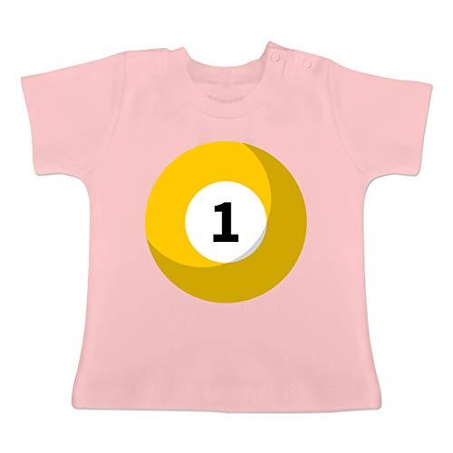 g Baby - Billardkugel 1 Kostüm - 1-3 Monate - Babyrosa - BZ02 - Baby T-Shirt Kurzarm ()