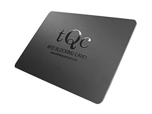 Carte de Blocage RFID NFC avec Brouilleur de Signal 0.9mm; Protection Carte Bancaire CB, Passeport; Protecteur de Carte bancaire sans Contact; 1 Seule Carte Protège Votre Portefeuille et Passeport