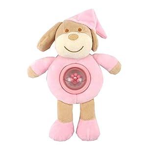 Duffi Baby- Peluche Sonajero Perrito, 100% Poliéster, Color Rosa (Master Baby Home, S.L. 0756-06)