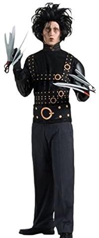 erdbeerloft - Herren Edward Karneval Kostüm mit Perücke und Scherenhandschuhen, M, Schwarz