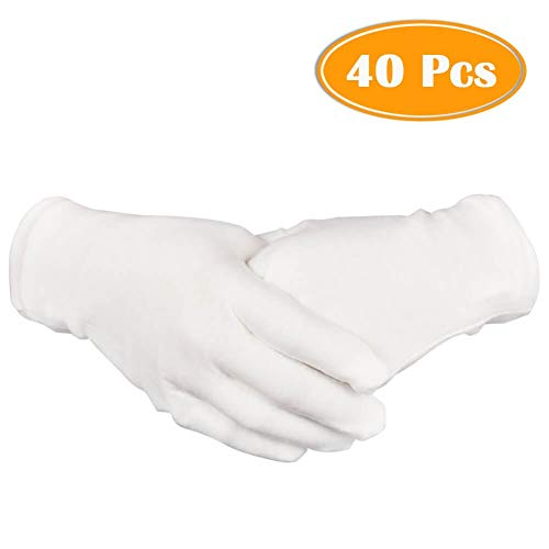 Care Baumwollhandschuhe, Medizinische Zwirnhandschuhe aus 100{09d9dd48d696162eb4a4acd53357ca1802b9b228185c47f9bd7ab30f01aab30f} Baumwolle zum Schutz der Hände bei trockener Haut, Neurodermitis und Ekzemen,20 Paar