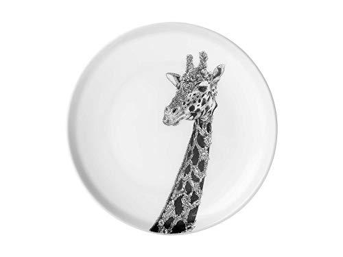 Maxwell & Williams DX0379 Marini Ferlazzo Teller African Giraffe, aus Bone China Porzellan, Schwarz, Weiß, in Geschenkbox China Teller