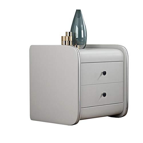 Oxlt-z Nachttisch einfache Moderne Nachttisch Schlafzimmer Regal volles Kleid Leder kleinen Nachttisch Schlafzimmer einfachen kleinen Schrank -