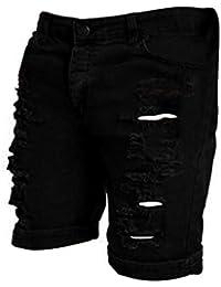f23ee3c75bf3 KPILP Herren Strandhosen Badeshorts Boxershorts Hipster Sportswear  Beiläufig Jeans Zerstört Knie Länge Loch Zerrissen Hose Shorts