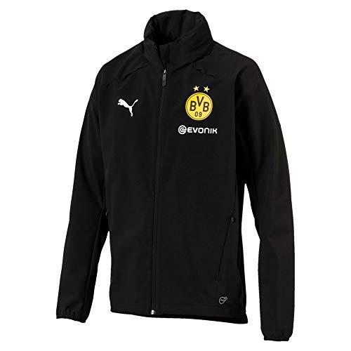 PUMA Herren BVB Rain Jacket with Sponsor Logo Jacke, Black, M