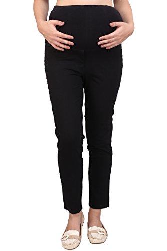 MomToBe Women's Linen Maternity Trouser, Black