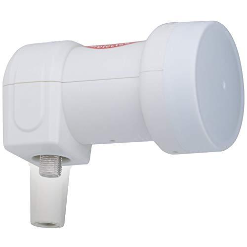 DUR-line +Ultra Single LNB - 1 Teilnehmer weiß - mit LTE-Filter [ Test SEHR GUT ] 1-Fach, digital, Full HD, 4K, 3D, Sieger - Premium-Qualität Hd-single