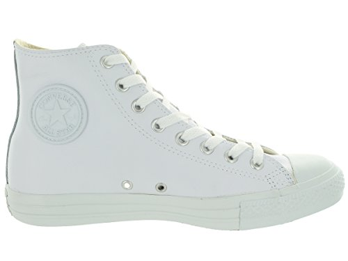 Converse Chuck Taylor All Star Mono Leather Hi, Sneaker Unisex – Adulto Bianco (White)