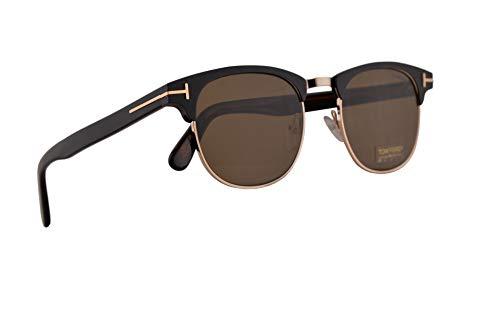 Tom Ford Männer FT0623 Laurent-02 Sonnenbrille w/Brown 51mm Objektiv 02J FT623 TF 623 TF623 Matt-schwarz groß