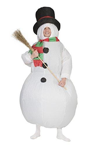 Fancy Ole - Herren Männer Unisex Kostüm Weihnachtlicher Schneemann, Erwachsenen Kostüm, One Size, - Schneemann Tunika Kostüm Für Erwachsene
