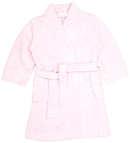 Mini ZZZ Pale Pink Plain Girl's Dressing Gown Pink 5