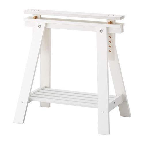 Custom Home Office Schreibtische (Set von 2Langlebig Holzbock Massivholz Beine mit zusätzlicher Ablage für Tisch, Schreibtisch, Workstation oder Zeichentisch, Höhe und Neigungswinkel verstellbar, weiß)