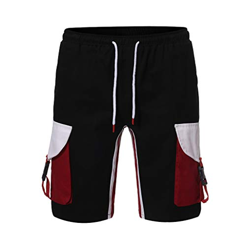 VWTTV Herren Hosen Shorts Jeans Hosen Hosen Overalls Sommer Retro Einfache Kontrast Taschen Lose Joker Casual Outdoor Casual Hosen Shorts - Zurück Pocket-denim-short