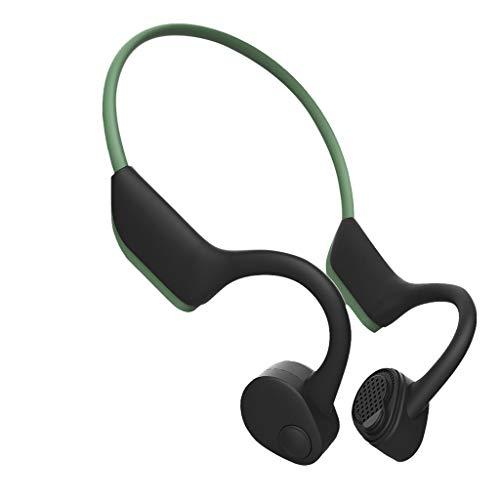 Bone Conduction Kopfhörer Wireless Bloototh 5.0 Kopfhörer Nackenbügel Bluetooth Outdoor Sport Stereo Headphones mit Mikrofon (Grau) Outdoor-sport-kopfhörer
